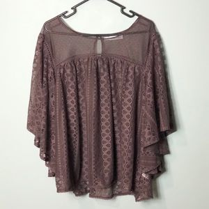 Maurices sheer lace blouse top plus size 3X
